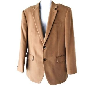 Nautica Mens Size 40R Tan 2 Button Sport Coat